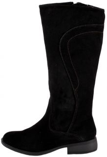 Easy Spirit Womens Shoes Falco Black Suede Leather Boots