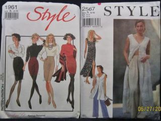 Lot 2 Style Misses Womens Skirts Dress Pants Sewing Patterns Szs 6 18