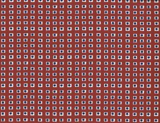 Quilt Quilting Fabric July 4th Americana Star Patch Red Off White Blue