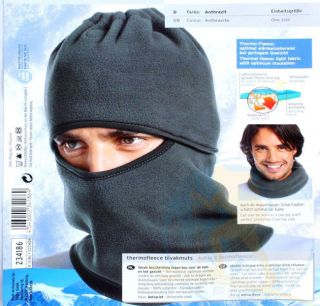 NWT Black Warm Full Face Cover Winter Ski Mask Beanie Hat Scarf Hood