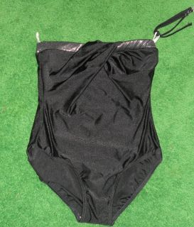 ESTHER WILLIAMS FOR MISTY ONE PIECE BATHING SUIT BLACK WITH SILVER