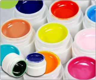 Pots Diff Colors Nail Art Tips Soild/Pure UV GEL Builder Gel Set U307