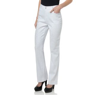 126 933 diane gilman dg2 embellished studded denim boot cut jeans note