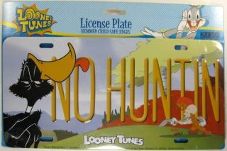 Daffy Duck License Plate Bugs Bunny Elmer Fudd New L653