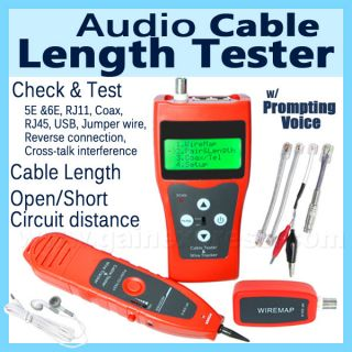 Network Cable Length Tester Hunting Wire Sorting Coax Phone RJ45 RJ11