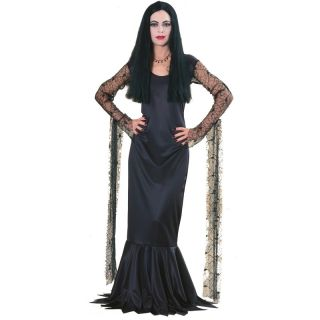 Family Series Morticia Addams Sexy Creepy Costume Classic