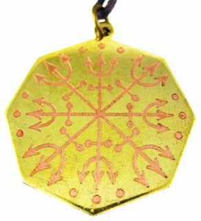 voodoo loa eshu protection charm pendant santeria