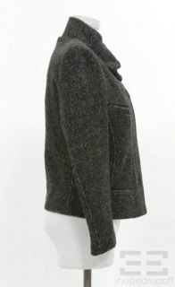 Etoile Isabel Marant Black & Grey Wool Zip Front Jacket Size 3
