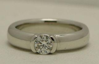 Tiffany Co Platinum Etoile Diamond Engagement Ring