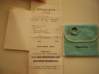 Tiffany & Co Platinum 10 Diamond Etoile Ring   Size 5.5