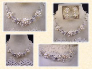 Pearl Rhinestone Crystal Cluster Jewelry Necklace Fashion Prom