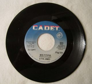 Etta James Vtg Promo 45 Record Miss Pitiful Bobby Is His Name Cadet