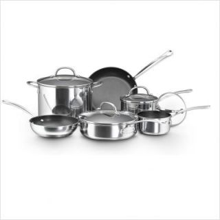 Farberware Millennium 10 Piece Nonstick Stainless Steel Cookware Set
