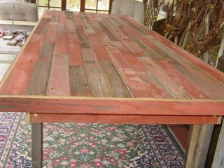 Reclaimed Country Barn Wood Farmers Farm Table 9ft benches Furniture