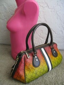 Rasta Ombre Esquivel Multi Color Coated Canvas Leather LG