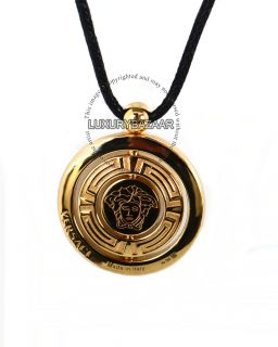 Versace 18K Yellow Gold Versace Eon Collection Yellow Sapphire Pendant