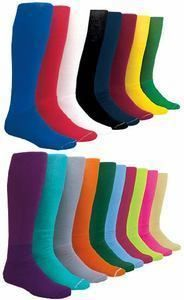 New 1 Pair Solid Soccer Socks in Your Color Size