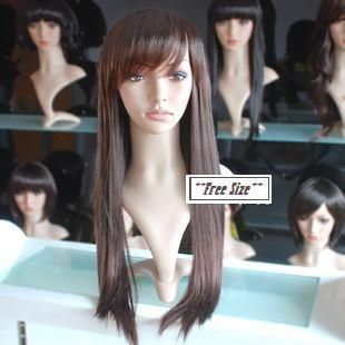 2012 New Fashion Sexy Long Girls Hairpieces Wig 100 Japan Top Quality