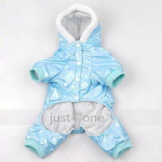 fashion cool dog puppy 4 legged pet apparel warm winter hoodie jacket