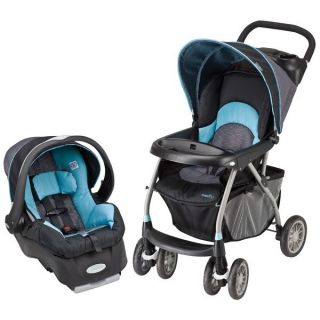 Evenflo Travel System Blue Stroller Car Seat Baby Infant Child Kids