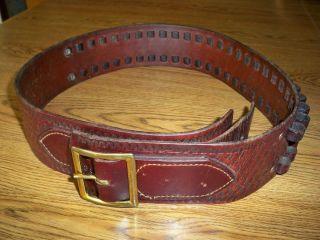 Eubanks Tooled Leather Cartridge Belt Rifle Beautiful