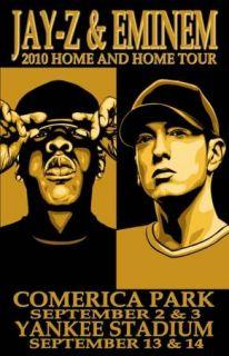 Jay Z Eminem 2010 Home Home Tour Concert Poster