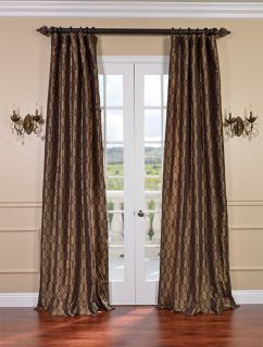 Meridian Chocolate Bronze Faux Silk Curtains Drapes