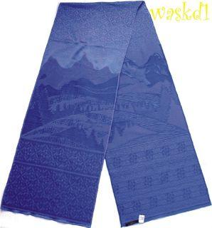 Emilio Pucci Purple Monterosa Silk Wool Long 14x81 Scarf Authentic
