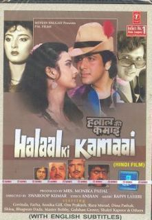 Halaal Ki Kamaai Govinda Farha Bollywood Hindi DVD