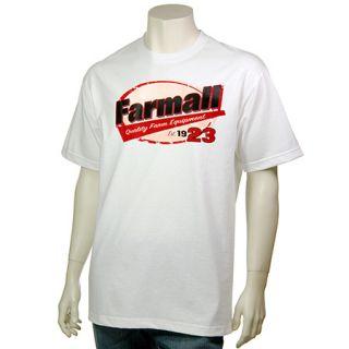 Farmall Mens Quality Farm Equipment SS Tee Shirt White New