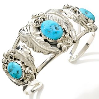 Chaco Canyon Southwest Sleeping Beauty Turquoise Sterling Silver Cuff