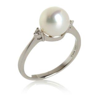 Jewelry Rings Gemstone Tara Pearls Freshwater Pearl and .08ct