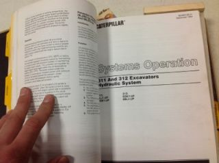 Caterpillar 311 312 Excavators Original Service Manual Nice Shape No