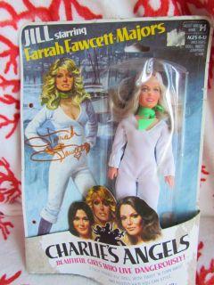Hasbro Charlies Angels Farrah Fawcett Doll Signed