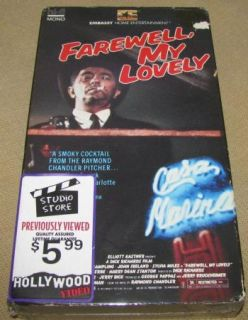 Farewell My Lovely VHS Robert Mitchum Rampling 1975