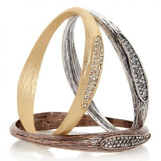 200 323 justine simmons jewelry crystal tricolor three piece bracelet