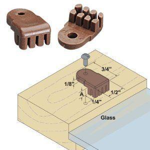 Glass Door Retainer Clips Kit 8 Pack