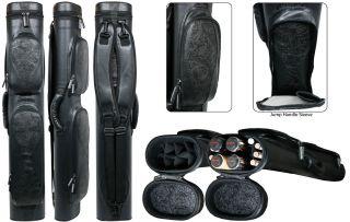 Sterling STW2BK Wave Series 4 Butt 8 Shaft Pool Cue Case   Black
