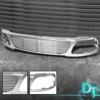 Chrome 97 98 Ford F150 Expedition Horizontal Style Sport Front Grille