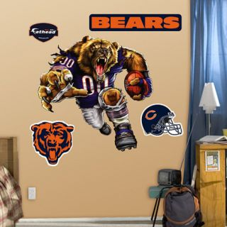 FATHEAD OFFICIAL CHICAGO BEARS BRUISER BEAR GIANT WALL DECAL NFL