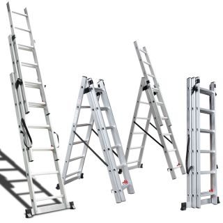 330lb Aluminum Multi Purpose Extension Ladder Folding Telescoping Loft