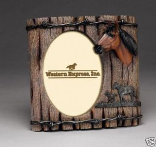 New Western Horse Head Barb Wire Fence Picture Frame