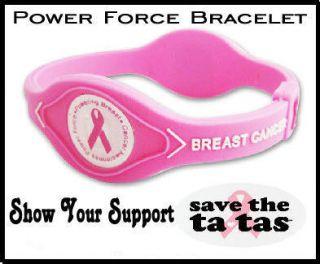 Pink Ribbon Power Force Silicone Energy Balance Bracelet USA