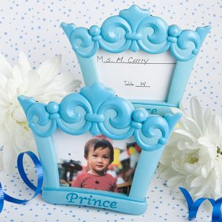 48 Baby Shower Favors Blue Prince Crown Design Photo Frames Place Card