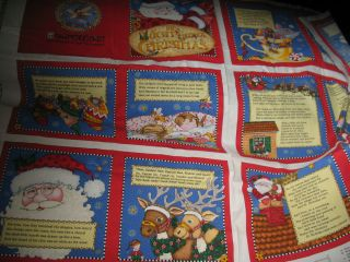 Mary Engelbreit Fabric Panel for Soft Book Night Before Christmas New