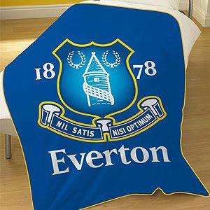 everton football club official bedding fleece blanket 2115 p