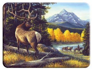 Elk Theme Tempered Glass Cutting Board 12x16 New
