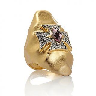 207 533 love rock by loree rodkin maltese cross hammered ring note