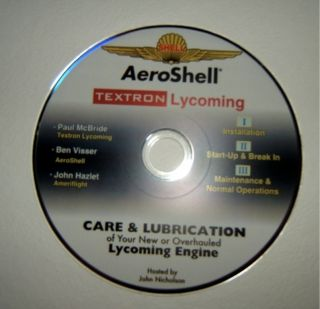 Aeroshell Textron Care Lubrication Of lycoming Engine Maintenance