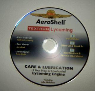 Aeroshell Textron Care Lubrication Oflycoming Engine Maintenance